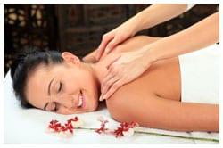 Woman receiving a massage.